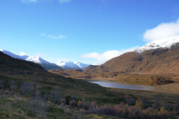 Snow capped peaks of Kintail